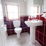 View of bathroom at Achill Cottages