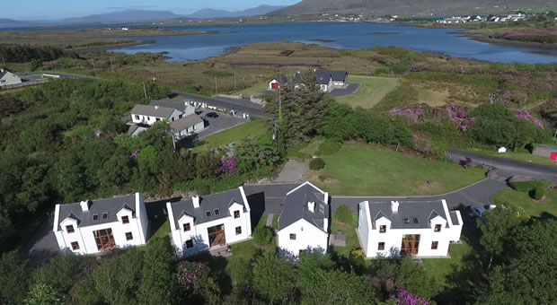 Aerial view of Achill Cottages